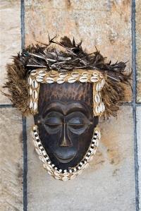 Handmade antique african mask, Ndebele tribe, Bulawayo, Zimbabwe