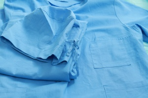 Doctor's uniform - close-up
