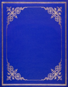 Blue leather cover
