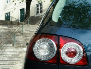 Rear lamp of the hatchback car