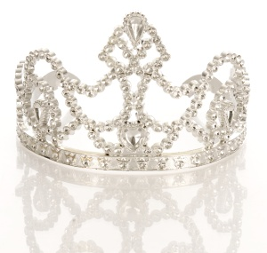 crown or tiara isolated on a white background with reflection