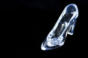 Glass Slipper, Black Background
