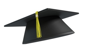 3d illustration of a graduation cap